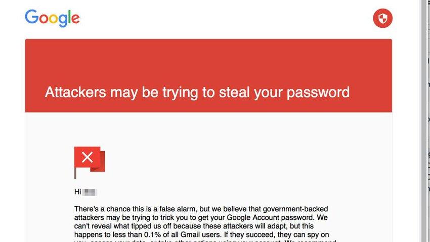 Gmail Phishing Example